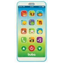 Telefone Bebê Celular Musical Azul - Buba Baby -