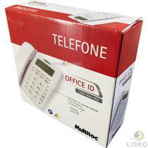 Telefone C/ Fio Viva Voz Office Id Branco Multitoc -