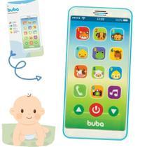 Telefone celular brinquedo baby fone - azul (estoque) - BUBA
