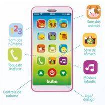 Telefone Celular Infantil Baby Phone Musical Rosa Ou Rosa - Buba Toys Brinquedo Para Bebe3 -