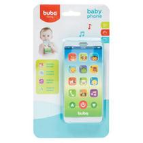 Telefone Celular Infantil Musical Baby Phone Azul - Buba - Buba Toys