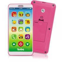 Telefone Celular Infantil Musical Baby Phone Rosa- BUBA -