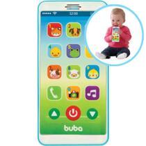 Telefone Celular Infantil Musical Phone Azul/Rosa  Buba Baby -