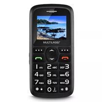 Telefone Celular Preto Vita 3G Dual Chip USB e Bluetooth Tela 1,8 Pol. + Base Carregadora Preto Multilaser P9091 -