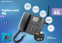 Telefone celular rural de mesa 4g wifi mp3 radio fm re505 -bivolt - Multilaser