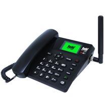 Telefone Celular Rural Fixo Bedin SAT BDF-14 Wifi 4G 7 Bandas Preto -