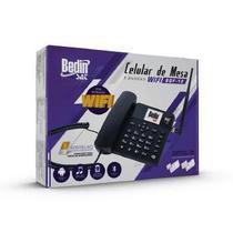 Telefone Celular Rural Fixo de Mesa 3G e Wifi 5 Bandas BDF-12 - Bedinsat