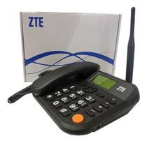 Telefone Celular Rural Mesa 3g 5 Bandas Chip Fixo Viva Voz ZTE WP721 ANTENA FIXA -