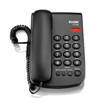 Telefone Com Chave TCF2000 Preto - Elgin -