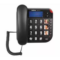 Telefone com Fio com Identificador de Chamadas Preto Tok Fácil ID Intelbras -