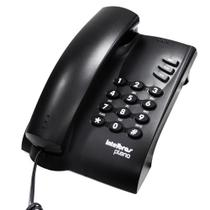 Telefone com Fio e Chave Pleno Preto - Intelbras -