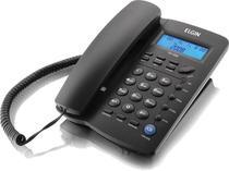 Telefone com Fio Elgin com Identificador de Chamadas Agenda pra 12 Numeros TCF 3000 - Preto -
