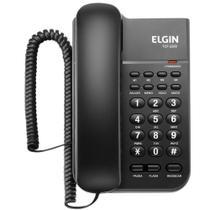 Telefone com Fio Elgin TCF 2200 com Tecla Hold e Chave de Bloqueio - Preto -