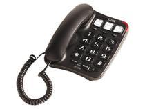 Telefone com Fio Elgin TCF2300 - Viva Voz Chave Bloq. Preto -