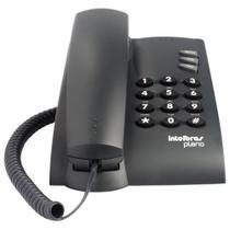 Telefone com Fio Intelbras Pleno com Chave Grafite -