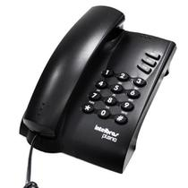 Telefone com Fio Intelbras Pleno com Chave Preto -