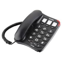 Telefone com Fio Memória Preto Elgin -