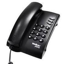 Telefone Com Fio Pleno Com Chave Preto Intelbras -