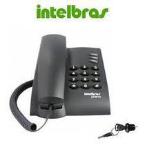 Telefone com fio pleno intelbras preto sem a chave de bloqueio -