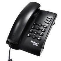 Telefone com fio pleno preto com chave - Intelbras