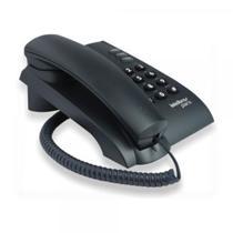 Telefone Com Fio Pleno Preto Com Chave - Jm Consultor