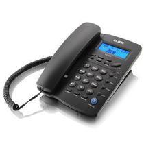 Telefone Com Fio Viva Voz Com Identificador De Chamadas Elgin Tcf-3000 Preto -