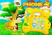 Telefone de Girafinha Musical Infantil Fone Com Luz Músicas Sons - Toy King