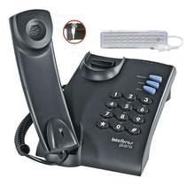 Telefone Fixo com Fio e Chave Intelbras Pleno mesa ou parede -