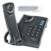 Telefone Fixo com Fio Intelbras Pleno Preto mesa ou parede -