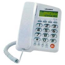 Telefone Fixo Com Fio Roadstar Rs1130 Identificador Branco -