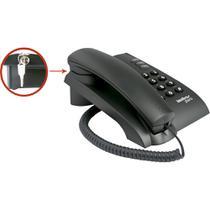 Telefone Fixo Pleno com Chave Preto - Intelbras -