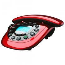Telefone Fixo Retrô Vintage com identificador vermelho - Megastar