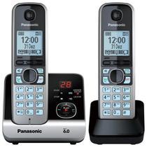 Telefone Fixo Sem Fio Panasonic KXTG6722LBB, 2 Monofones, Secretária Eletrônica + Ramal -