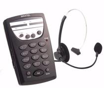 Telefone Headset Profissional Telemarketing C/ Fone Articulado Mt-108 Maxtel -