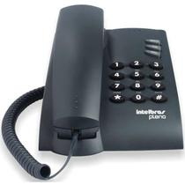 Telefone Intelbras Pleno com fio, Preto -