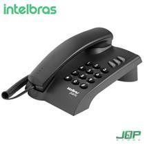 Telefone Intelbras Pleno com Fio s/ Chave de Bloqueio Preto -
