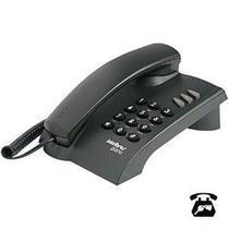 Telefone Intelbras Pleno Preto com Chave com Fio 4080057 -