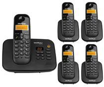 Telefone Intelbras Sem Fio Digital Ts 3130 + 4 Ramal Ts 3111 -