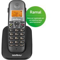 Telefone Intelbras sem Fio TS 5121 Ramal - Preto - 4125121 -