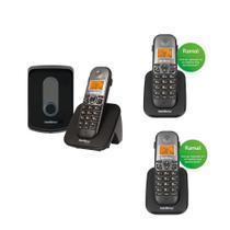Telefone Interfone Sem Fio Intelbras TIS 5010 DECT 6.0 + 2 Ramal TS 5121 -