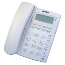 Telefone Multitoc Office ID com Fio Branco com ID e Viva VOZ -