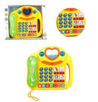 Telefone musical coração / casinha educativo com som e luzes - Wellmix