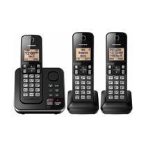 Telefone Panasonic Fixo Sem Fio Kx-Tgc363Lcb 1.9Ghz - 3 Base -