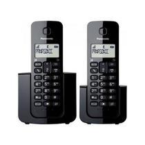 Telefone Panasonic sem fio com Base+Ramal ID KX-TGB112LBB -