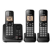 Telefone Panasonic Sem Fio Digital 3 Bases Kx-Tg633Sk -