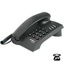 Telefone pleno preto com chave - Intelbras