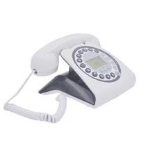 Telefone Retrô Vintage Antigo Com Identificador Cor Branco - Teem