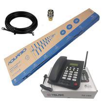 Telefone Rural Mesa Chip Oi Tim Algar Claro Fixo com Antena - Telsec