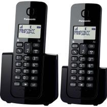 Telefone Sem Fio c/ID De Chamadas Base + Ramal KX-TGB112LBB Preto Panasonic -