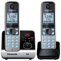 Telefone sem Fio com Base + Ramal KX-TG6722 PRETO/PRATA Pana - Panasonic